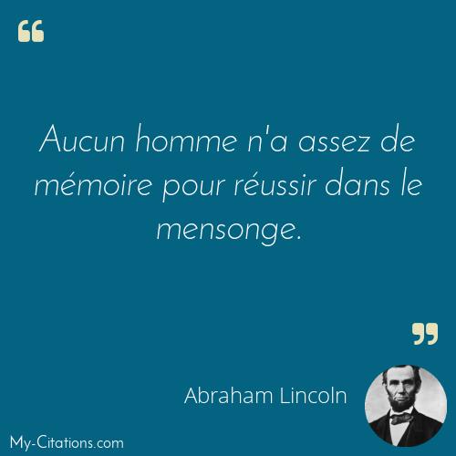 Citation Abraham Lincoln
