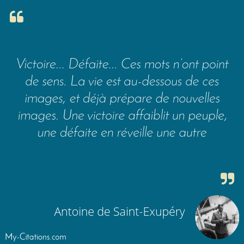 Citation Antoine De Saint Exupery