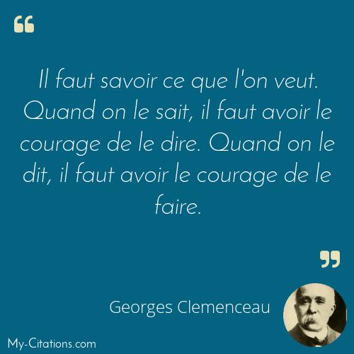 Citation Georges Clemenceau