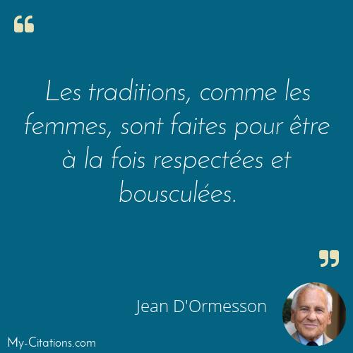 Citation Jean D Ormesson