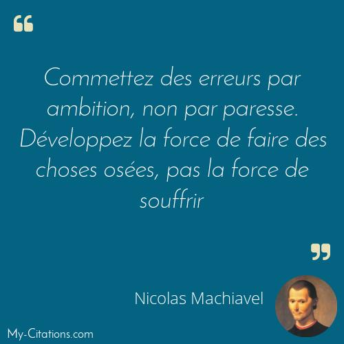 Citation Nicolas Machiavel